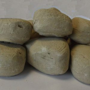 9pc Ceramic Fireplace Pebble Set Beige