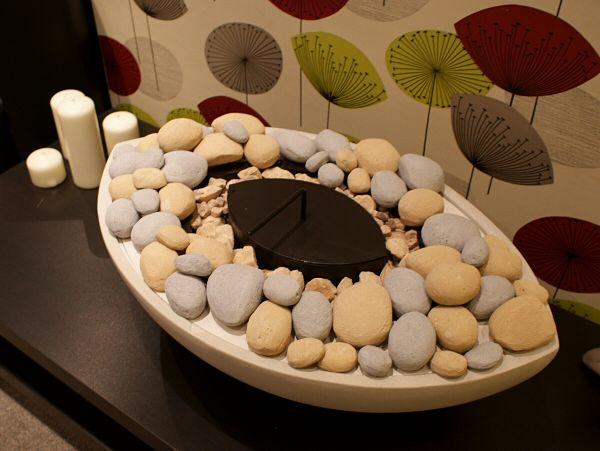 Large Oval White Stone