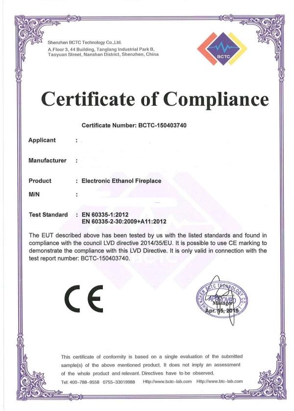 Remote Bioethanol Burner 660
