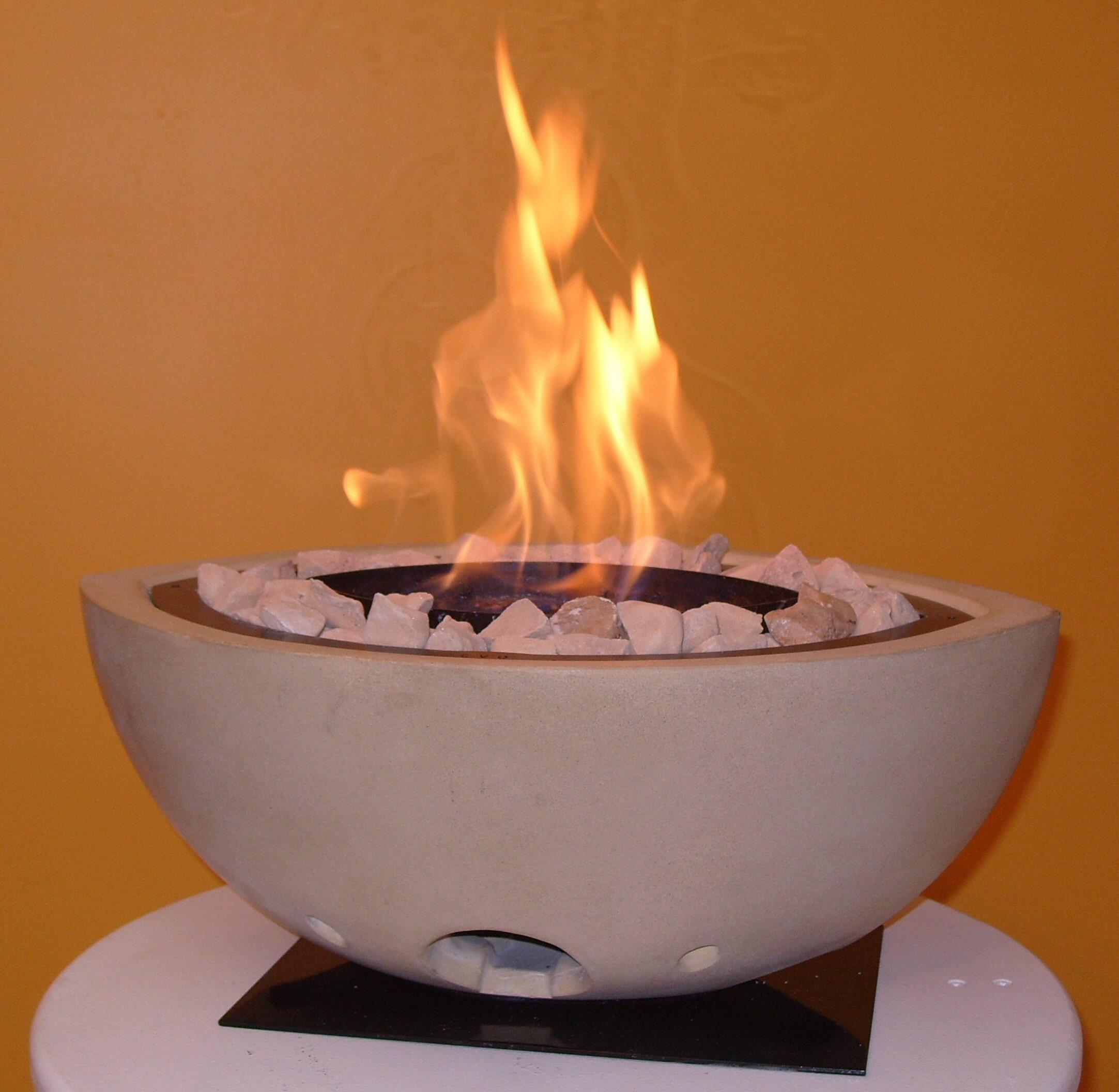 Stone Oval Bio Ethanol Fire Bowl Easyfire